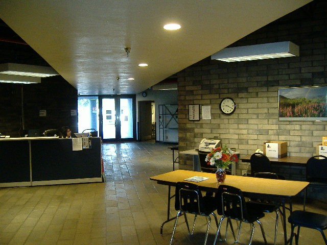 Photo of the Records Management Center lobby