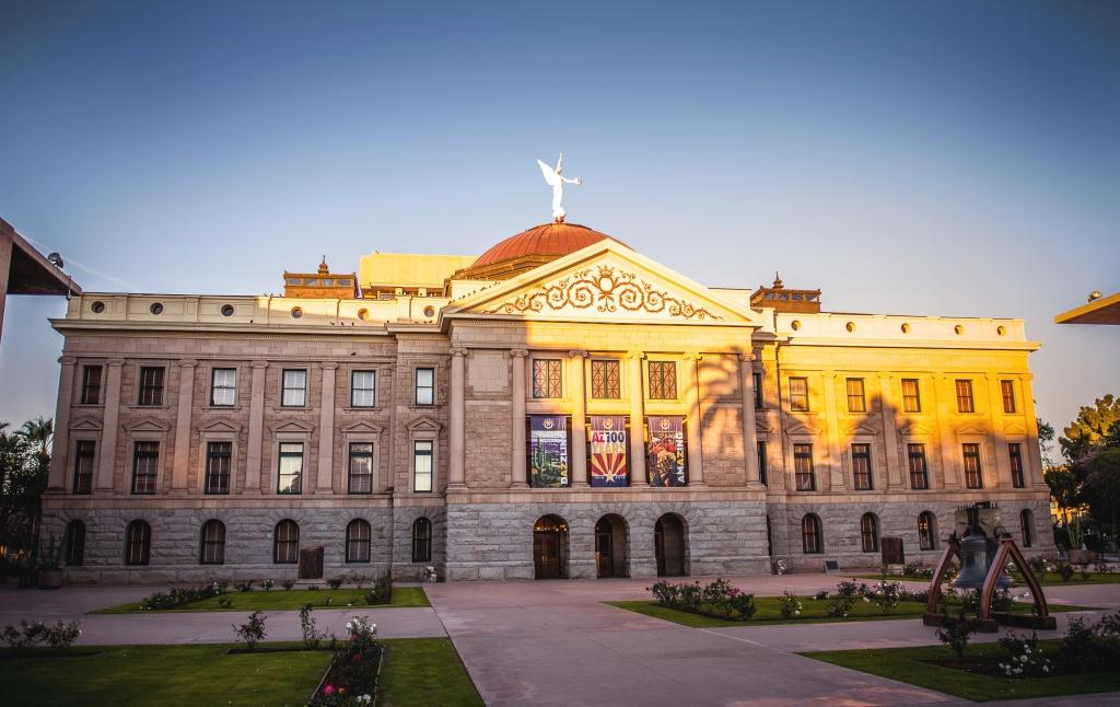 Photo of the Arizona State Capitol building which houses the Capitol Museum and the State Library